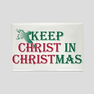 Keep Christ cross Rectangle Magnet