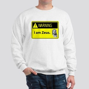 Warning: I am Zeus Sweatshirt