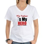 Lung Cancer Hero (Nephew) Women's V-Neck T-Shirt