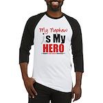 Lung Cancer Hero (Nephew) Baseball Jersey
