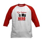 Lung Cancer Hero (Nephew) Kids Baseball Jersey