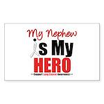 Lung Cancer Hero (Nephew) Rectangle Sticker 10 pk