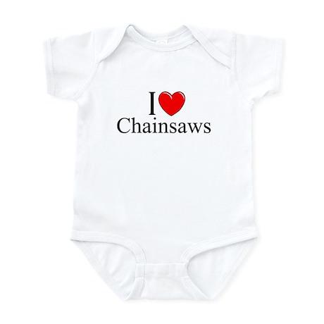 """I Love (Heart) Chainsaws"" Infant Bodysuit"