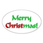 Christ in Christmas Oval Sticker (50 pk)