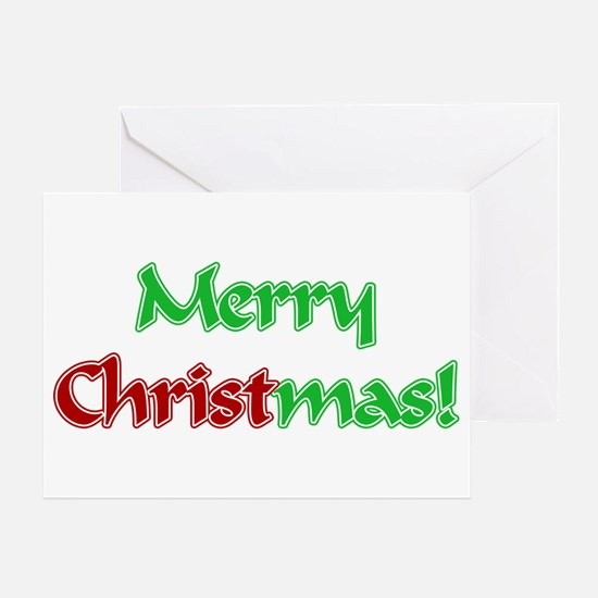 Christ in Christmas Greeting Card