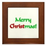 Christ in Christmas Framed Tile