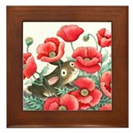 What Does Bunny See? framed tile