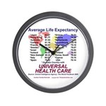 Universal Health Care Wall Clock