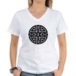 Chinese Longevity Women's V-Neck T-Shirt