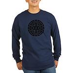 Chinese Longevity Long Sleeve Dark T-Shirt