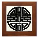 Chinese Longevity Framed Tile
