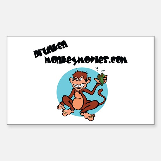 Drunken Monkey Rectangle Decal
