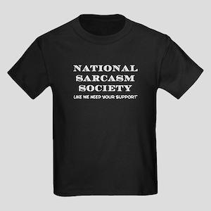 National Sarcasm Kids Dark T-Shirt