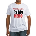 Lung Cancer Hero (Grandson) Fitted T-Shirt