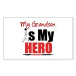 Lung Cancer Hero (Grandson) Rectangle Sticker 10