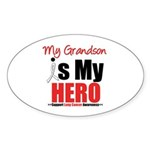 Lung Cancer Hero (Grandson) Oval Sticker (10 pk)