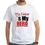 Lung Cancer Hero (Father) White T-Shirt