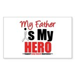 Lung Cancer Hero (Father) Rectangle Sticker 10 pk