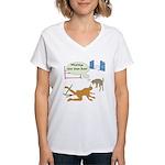 Whatcha Doin Women's V-Neck T-Shirt
