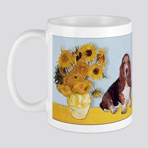 Sunflowers & Basset Mug