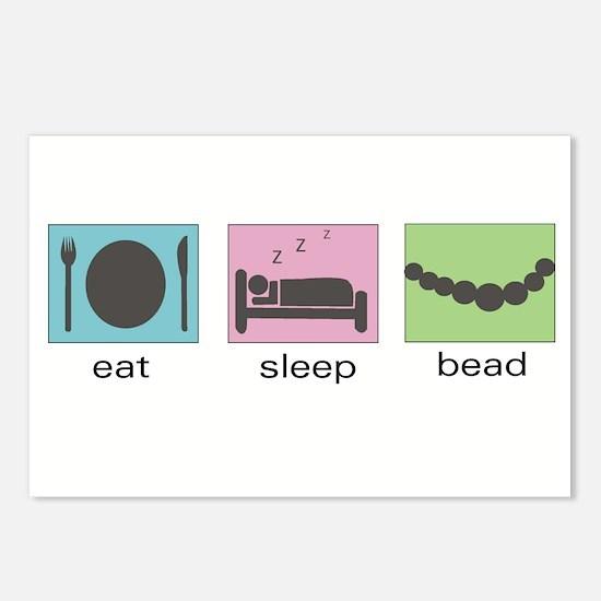 Eat. Sleep. Bead. Postcards (Package of 8)