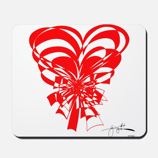 """""""Bouquet of Hearts"""" Red Mousepad"""