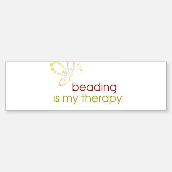 Beading is my Therapy Bumper Bumper Bumper Sticker