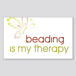 Beading is my Therapy Rectangle Sticker
