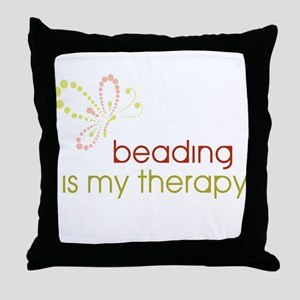 Beading is my Therapy Throw Pillow