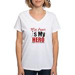 Lung Cancer Hero (Aunt) Women's V-Neck T-Shirt