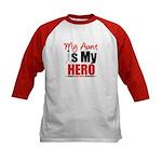 Lung Cancer Hero (Aunt) Kids Baseball Jersey
