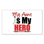 Lung Cancer Hero (Aunt) Rectangle Sticker 10 pk)