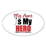 Lung Cancer Hero (Aunt) Oval Sticker