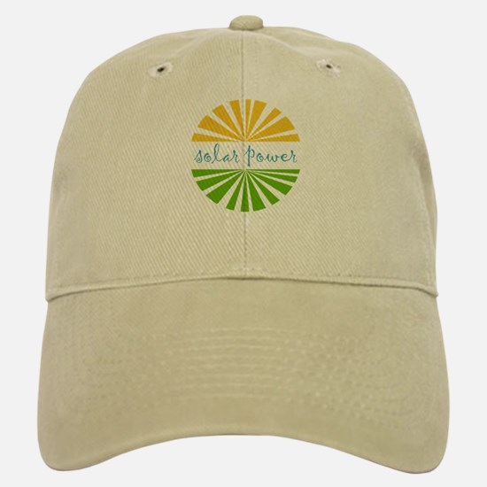 Solar Power Baseball Baseball Cap