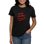 World Phucking Champions, Red Women's Dark T-Shirt