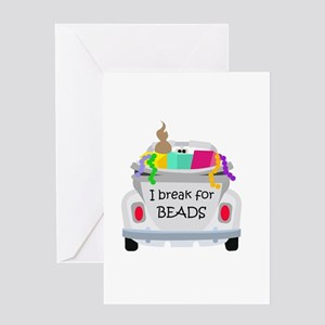 I brake for beads Greeting Card