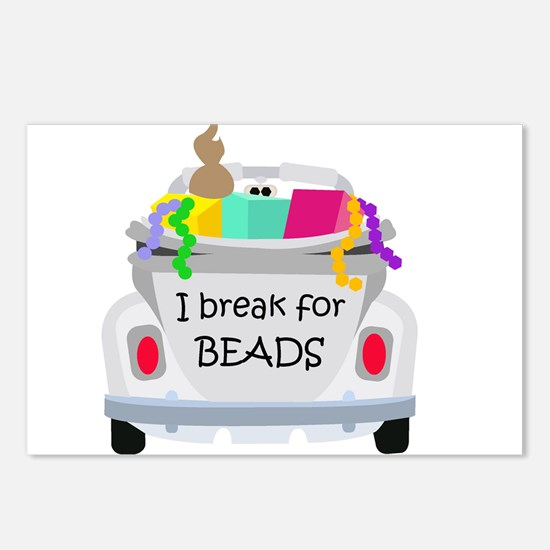 I brake for beads Postcards (Package of 8)