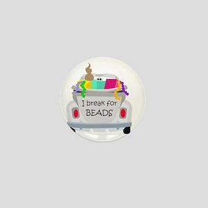 I brake for beads Mini Button