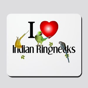Indian Ringnecks Mousepad
