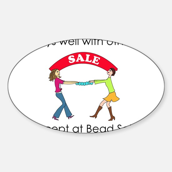 Plays well with others... Oval Decal