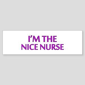 Pink Nice Nurse Bumper Sticker