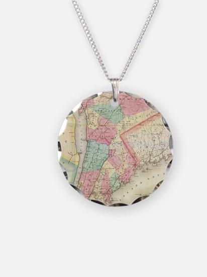 Vintage Map of Westchester N Necklace