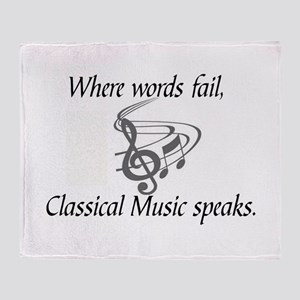 CLASSICAL MUSIC SPEAKS Throw Blanket