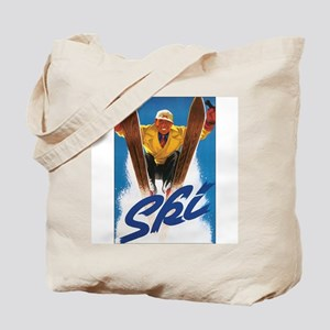 Ski Skiing Tote Bag