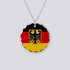 Flag: German & Coat of Arms Necklace Circle Charm