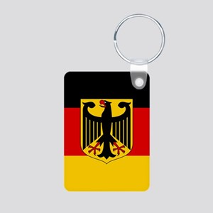Flag: German & Coat of Arm Aluminum Photo Keychain