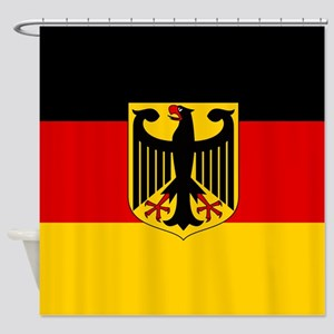 Flag: German & Coat of Arms Shower Curtain