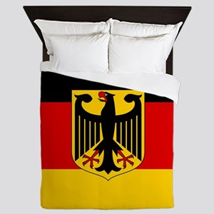 Flag: German & Coat of Arms Queen Duvet