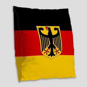 Flag: German & Coat of Arms Burlap Throw Pillow