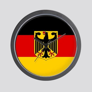 Flag: German & Coat of Arms Wall Clock